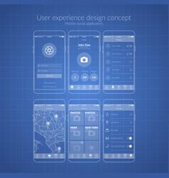 mobile application design vector image vector image