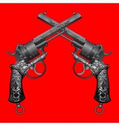 old gun vector image