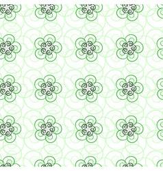 seamlee green pattern vector image