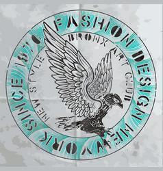 tee fashion logo graphic design vector image vector image