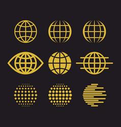 Big set of globes vector