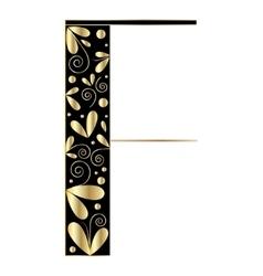 Decorative letter shape F vector image