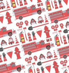 Fireman seamless pattern vector image