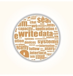 Like - social media concept in word tag cloud vector image vector image