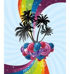 rainbow festive banner vector image vector image