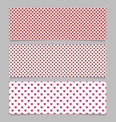Seamless heart pattern banner background design vector