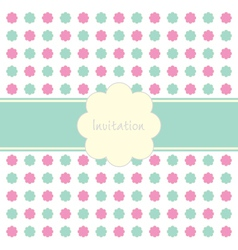Floral Invitation Pattern vector image vector image