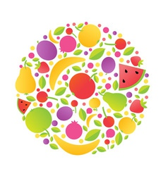 Fruits Sphere vector image vector image