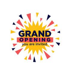 grand opening invitation minimalistic vector image vector image