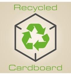 Logo recycled cardboard vector image