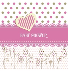 Lovely baby shower vector image