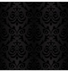 seamless black silk wallpaper pattern vector image vector image