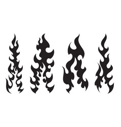 stylish tattooes fire white background vector image