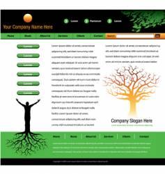 tree man roots webpage vector image vector image