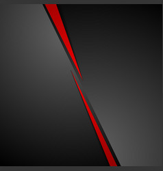 Abstract dark red black corporate tech background vector