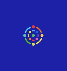 abstract science tech logotype social media vector image