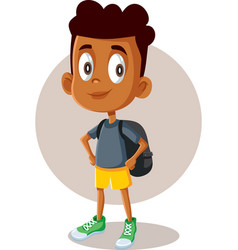 african male student on way to school vector image