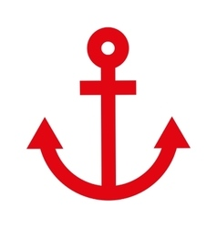 Anchor red isolated icon design vector