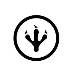 Animal or dinosaur footprint claw symbol vector