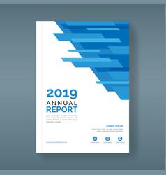 Annual report cover design vector