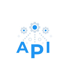 Api application programming interface concept vector
