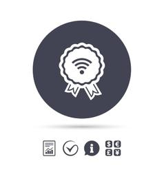 Award Wifi sign Wi-fi symbol Wireless Network vector