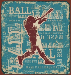 BASE BALL SPORT vector image
