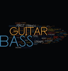 Bass players text background word cloud concept vector