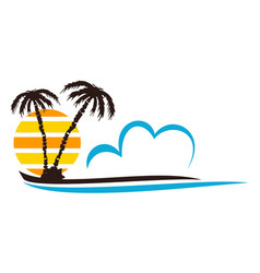 Beach logo design template vector