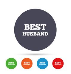 Best husband sign icon award symbol vector
