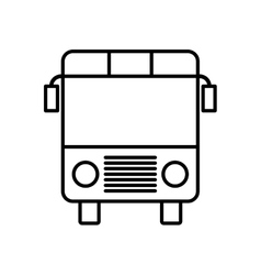 Bus transportation vehicle travel icon vector