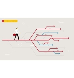 Businessman chooses the right path vector image