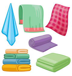 cartoon towels set vector image