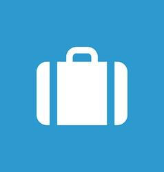case icon icon white on blue background vector image