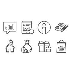 Cash keywords and surprise package icons vector