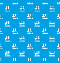 chemistry pattern seamless blue vector image