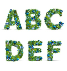 Christmas tree font vector