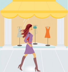 City shopping vector