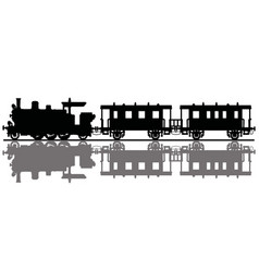 Classic passenger steam train vector