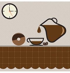 Coffee Set For Coffee Time vector