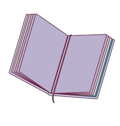 Colorful notebook open with tape separator vector