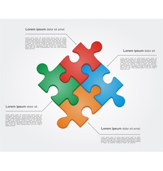 Concept of colorful puzzle pieces vector image