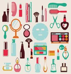 Cosmetic-elements-set vector