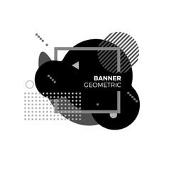 creative geometric banner template modern black vector image