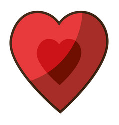 cute big heart vector image