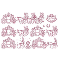 Cute cinderella carriage vector