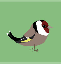 Cute goldfinch vector