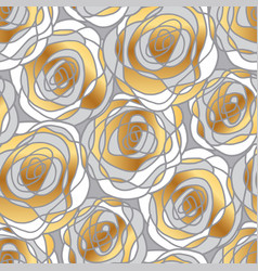 decorative gold rose motif vector image