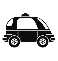 driverless car icon simple style vector image