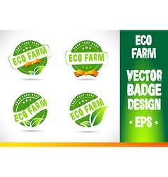 Eco farm Badge vector image